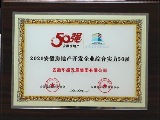 2020年安徽房地产开发企业综合实力50强