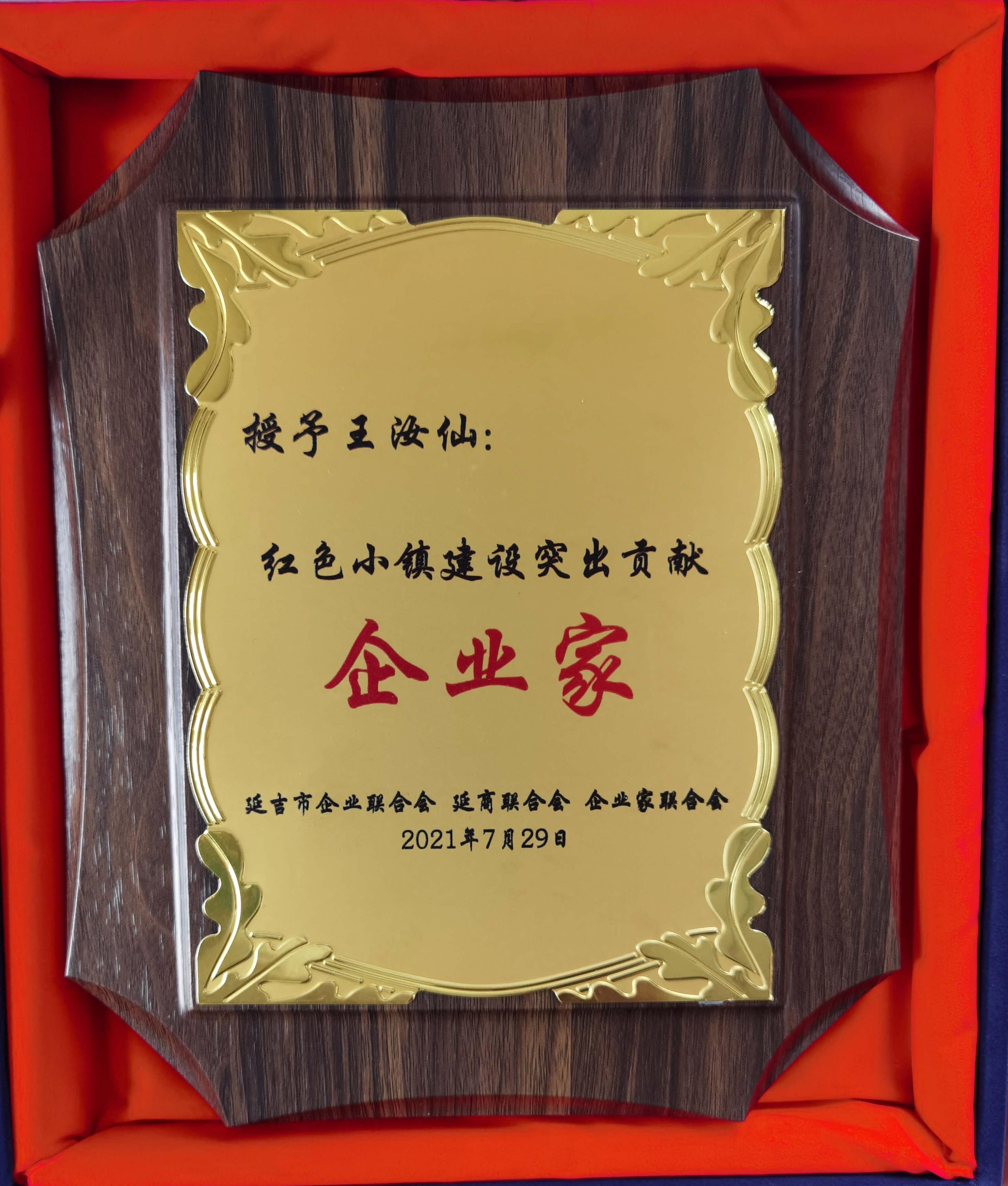 延吉市红色小镇建设突出贡献企业家